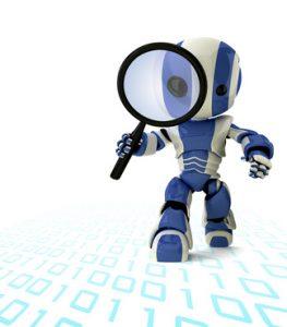 >thisisjustarandomplaceholder<Robot Inspector Detective with Magnifying Glass   Iberian Press®