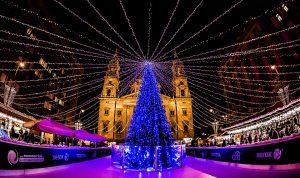 >thisisjustarandomplaceholder<At Night Fair Budapest Advent Light Christmas Tree | Iberian Press®