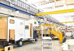 >thisisjustarandomplaceholder<production of camper vans/ motorhomes/ caravans in a factory | Iberian Press®