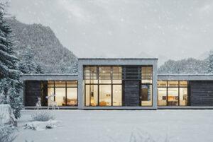 >thisisjustarandomplaceholder<Modern Mountain House In Snowy Weather | Iberian Press®