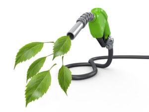 >thisisjustarandomplaceholder<Green conservation. Gas pump nozzle and leaf. 3d | Iberian Press®